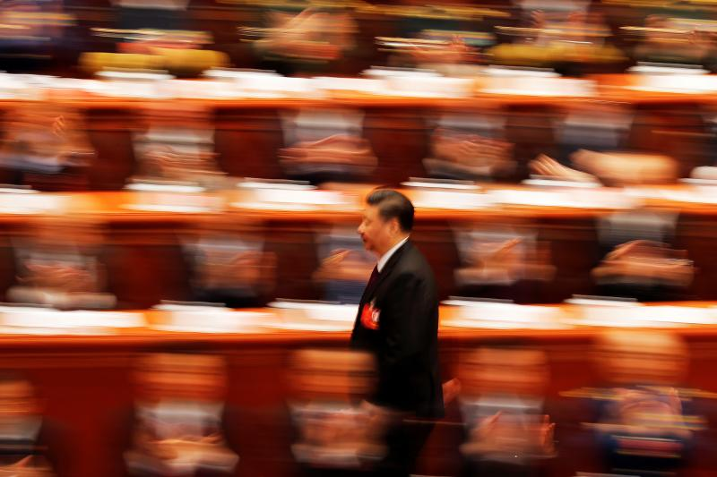 习近平在北京人民大会堂,2018年3月