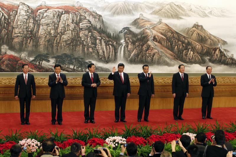 中共中央政治局常委2012年11月在北京